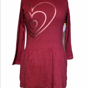 Love @ first sight girls pink heart dress size 7/8